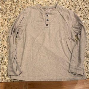 St. John's bay men's medium tan shirt. Like new